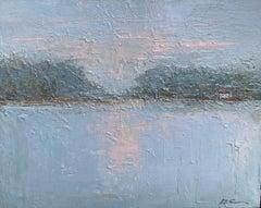 Serenity by Geri Eubanks, Framed Impressionist Oil on Canvas 2020 Painting