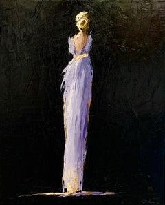 Suzette by Geri Eubanks, Framed Impressionist Oil on Canvas Painting