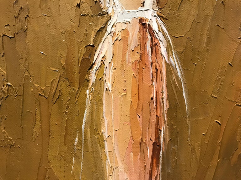 Yvette II by Geri Eubanks, Small Framed Impressionist Figurative Oil Painting For Sale 4