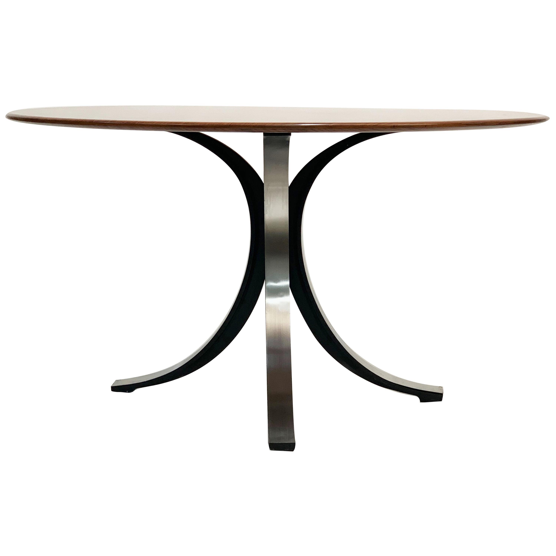 Gerli and Borsani Midcentury T-69 Italian Wood Dining Table for Tecno, 1965