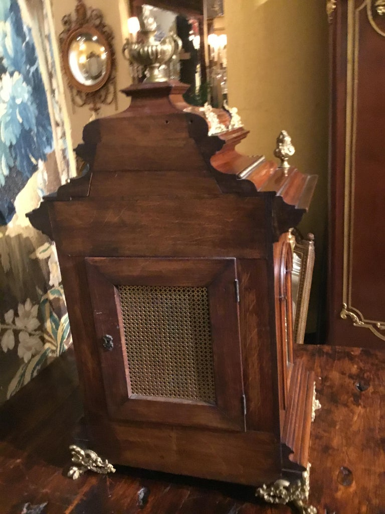 German 19th Century Bracket Clock, Walnut with Westminster Chimes on 8 Bells For Sale 7