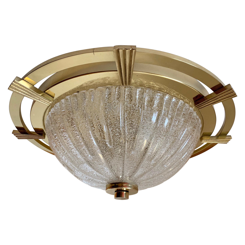 German 1960s Murano Nautical Flush Ceiling Light