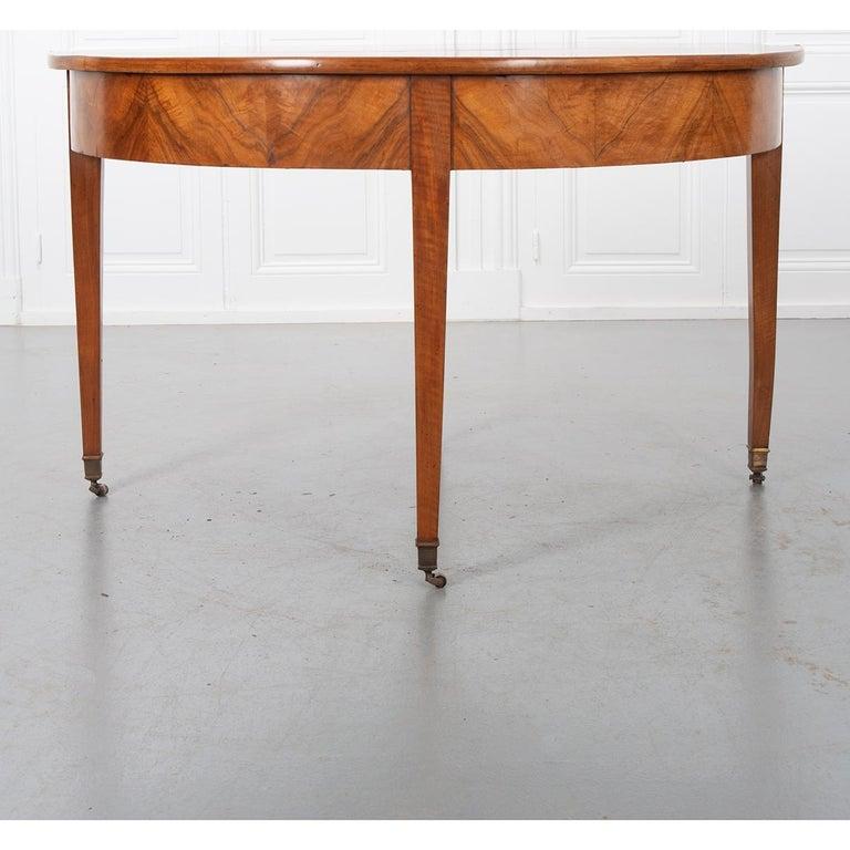 German 19th Century Biedermeier-Style Demilune Table In Good Condition For Sale In Baton Rouge, LA
