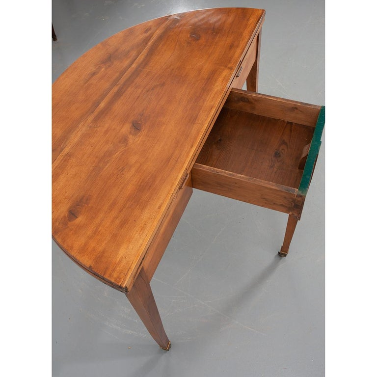 German 19th Century Biedermeier-Style Demilune Table For Sale 1