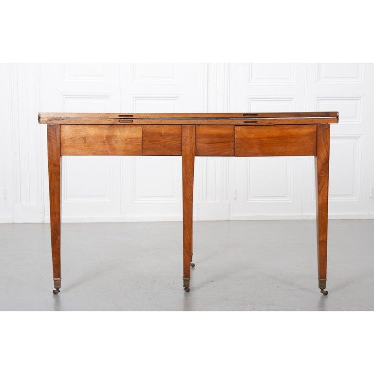German 19th Century Biedermeier-Style Demilune Table For Sale 3
