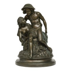German 19th Century Bronze Signed and Dated Moser 1851 with a Verdigris Patina