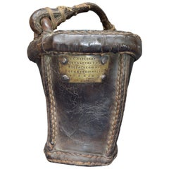 German 19th Century Leather Fire Bucket Dated 1846