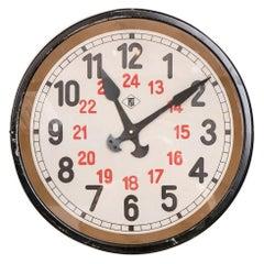 German 24 Hour Clock by Telenorma, c.1920