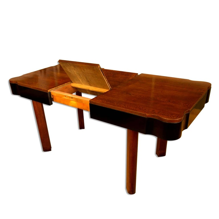 German Art Deco Dining Set in Oak, 1930s For Sale 5