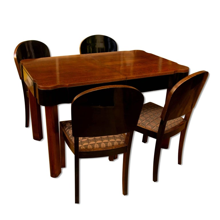 German Art Deco Dining Set in Oak, 1930s For Sale 15