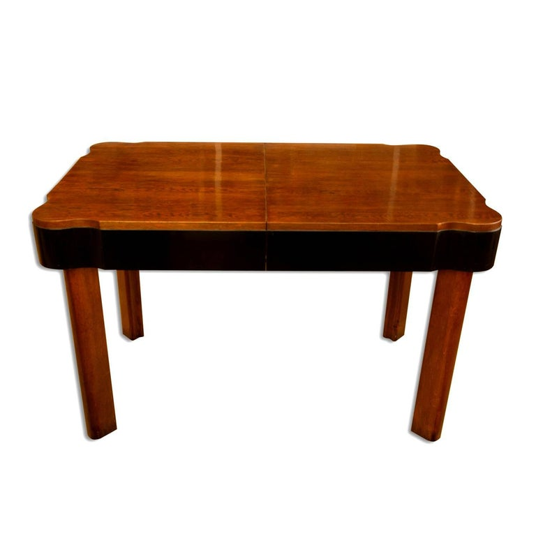 German Art Deco Dining Set in Oak, 1930s In Excellent Condition For Sale In Prague 8, CZ