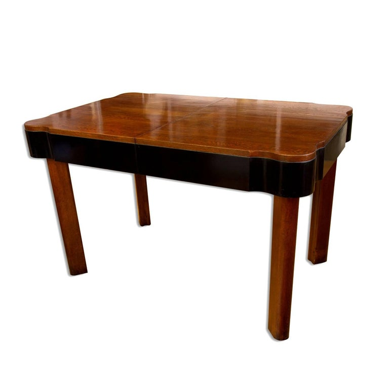 Mid-20th Century German Art Deco Dining Set in Oak, 1930s For Sale