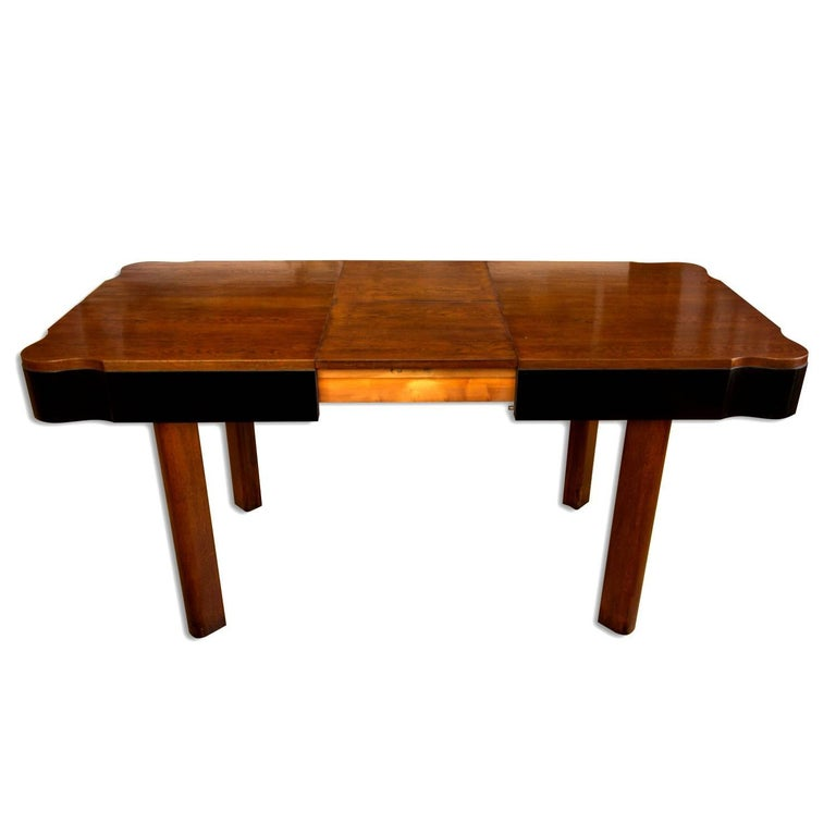 German Art Deco Dining Set in Oak, 1930s For Sale 2