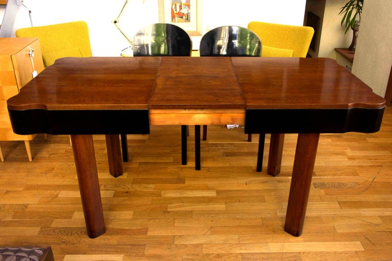 German Art Deco Dining Set in Oak, 1930s For Sale 3