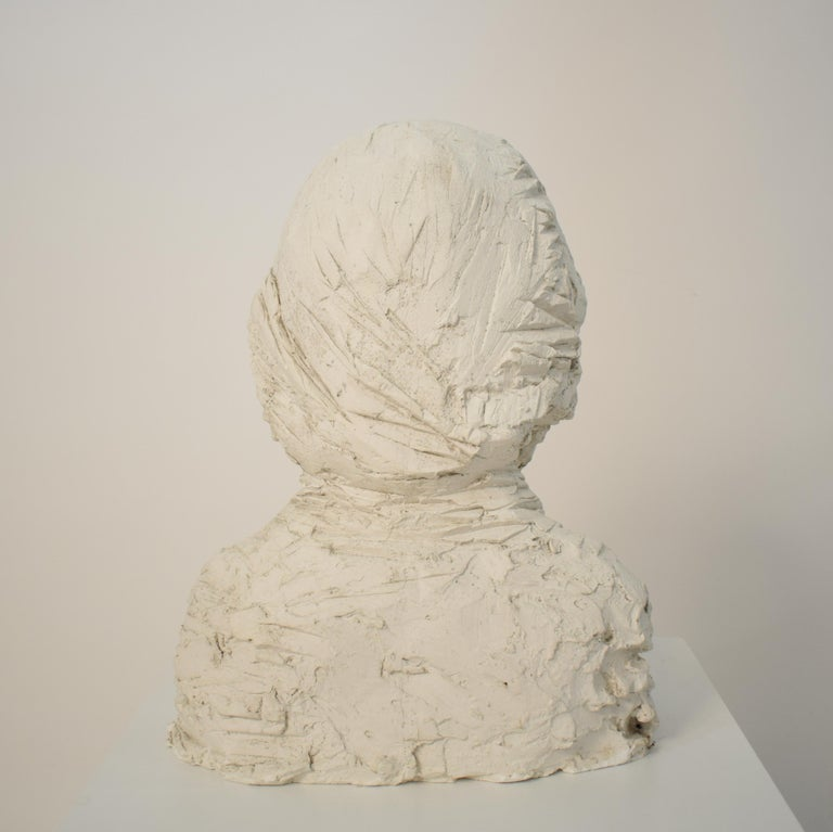 German Art Deco Plaster Bust of a Bearded Men, circa 1930 For Sale 8