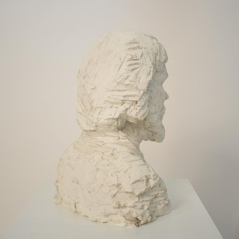 German Art Deco Plaster Bust of a Bearded Men, circa 1930 For Sale 9