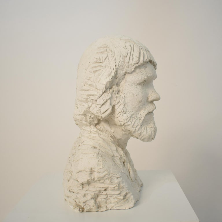 German Art Deco Plaster Bust of a Bearded Men, circa 1930 For Sale 10