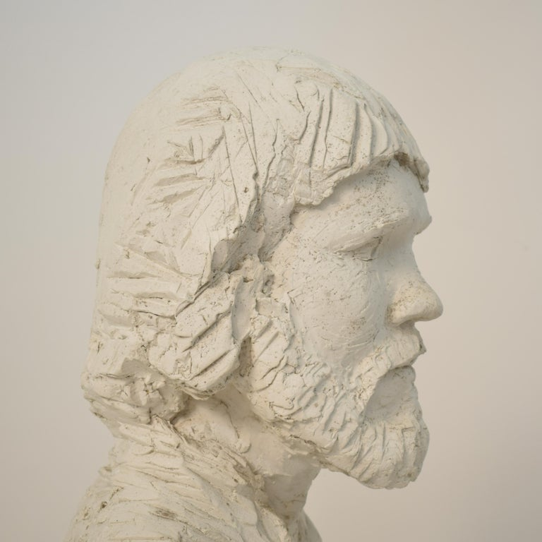 German Art Deco Plaster Bust of a Bearded Men, circa 1930 For Sale 11