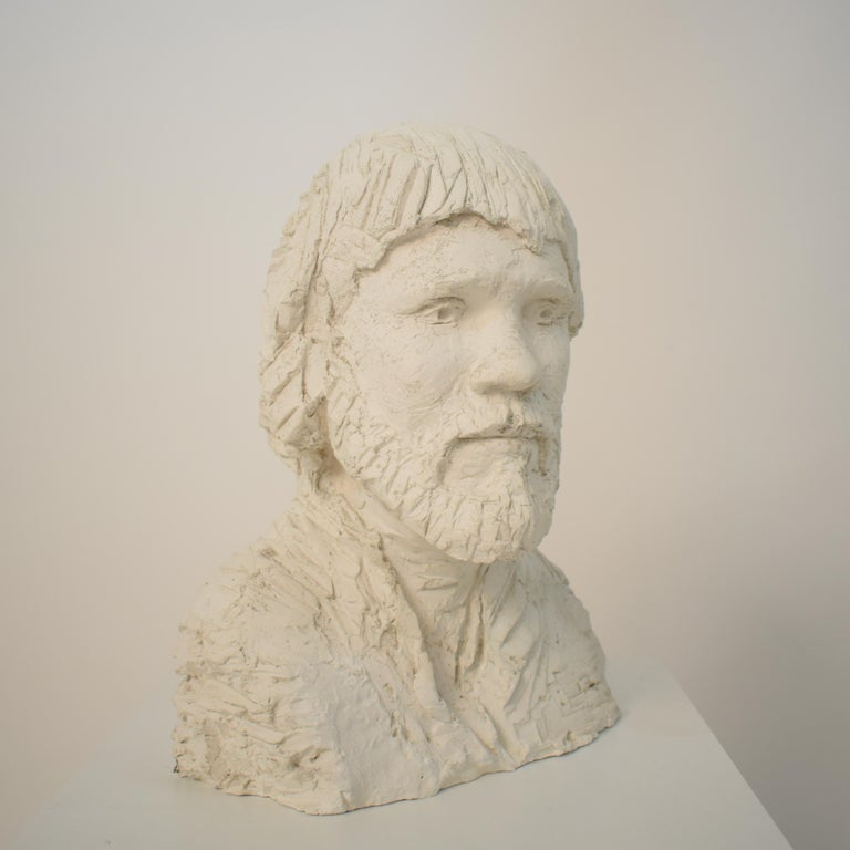 German Art Deco Plaster Bust of a Bearded Men, circa 1930 For Sale 12
