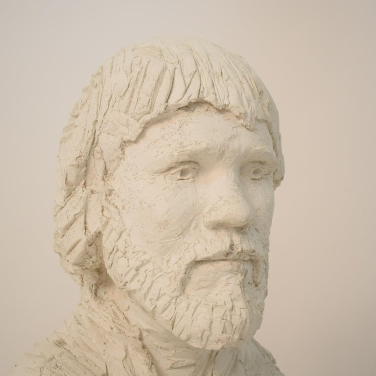 German Art Deco Plaster Bust of a Bearded Men, circa 1930 For Sale 13