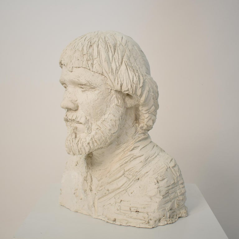 Mid-20th Century German Art Deco Plaster Bust of a Bearded Men, circa 1930 For Sale