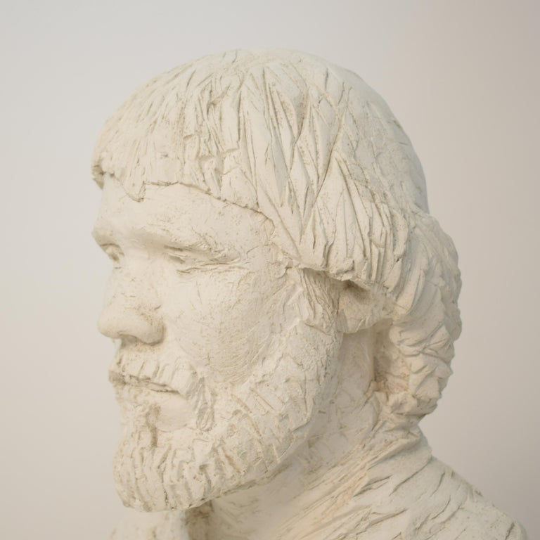 German Art Deco Plaster Bust of a Bearded Men, circa 1930 For Sale 1