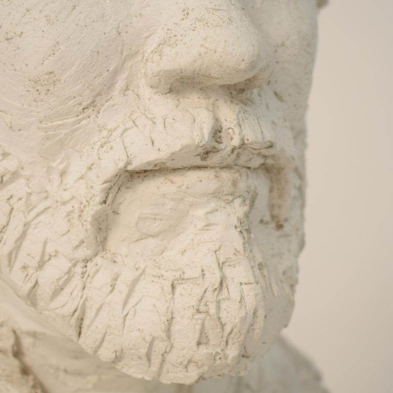 German Art Deco Plaster Bust of a Bearded Men, circa 1930 For Sale 2