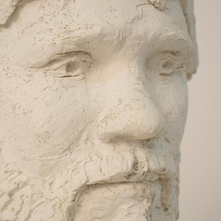 German Art Deco Plaster Bust of a Bearded Men, circa 1930 For Sale 3