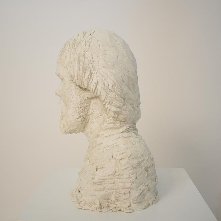 German Art Deco Plaster Bust of a Bearded Men, circa 1930 For Sale 5