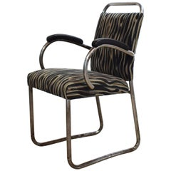 German Art Deco Tubular Steel Cantilever Armchair, circa 1925