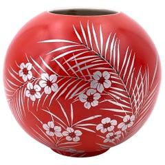 German Art Deco Vase in Porcelain by Mitterteich Bavaria
