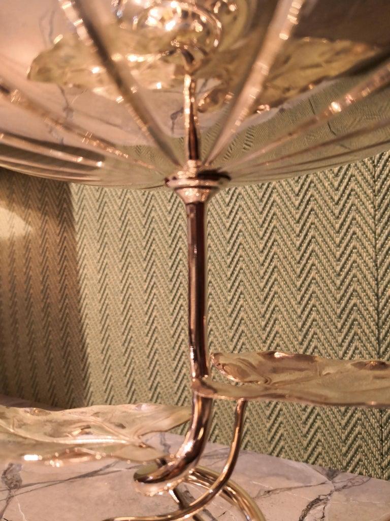Hand-Crafted German Art Nouveau Silver Centerpiece Bowl For Sale
