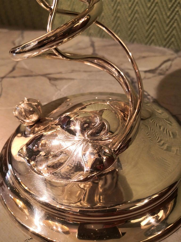 20th Century German Art Nouveau Silver Centerpiece Bowl For Sale