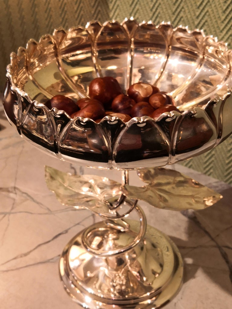 German Art Nouveau Silver Centerpiece Bowl For Sale 3