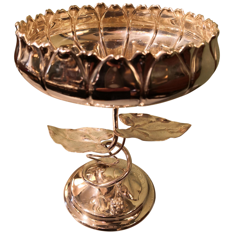 German Art Nouveau Silver Centerpiece Bowl