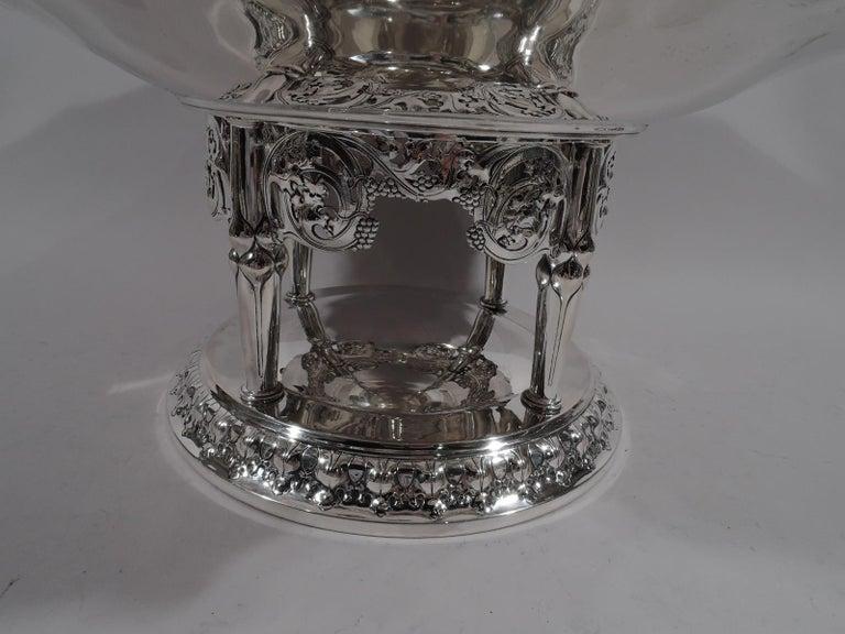 German Art Nouveau Silver and Malachite Showstopper Centerpiece For Sale 2