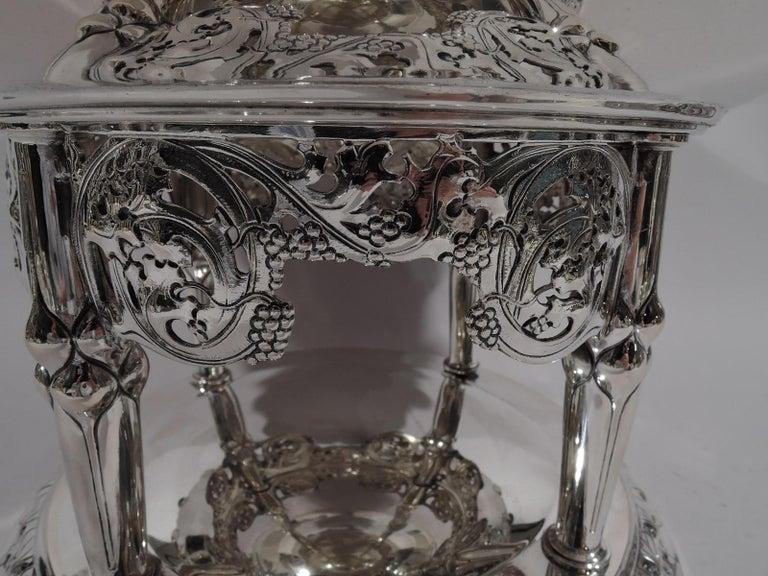 German Art Nouveau Silver and Malachite Showstopper Centerpiece For Sale 3