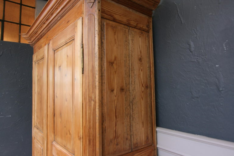 German Baroque Cabinet Made of Pine For Sale 9