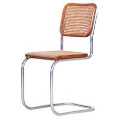 German Bauhaus Chair, Marcel Breuer and Thonet, Chrome, 1930s