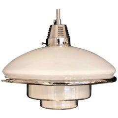 German Bauhaus Design Sistrah Pendant Lamp by Otto Müller, 1931