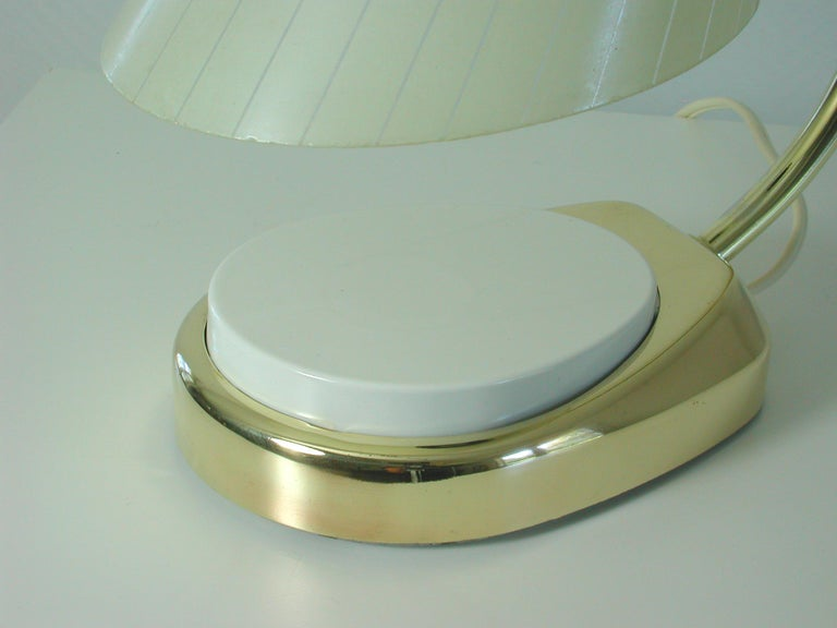 German Bauhaus Marianne Brandt Brass and Opal Touch Light Table Desk Lamp, 1960s For Sale 1