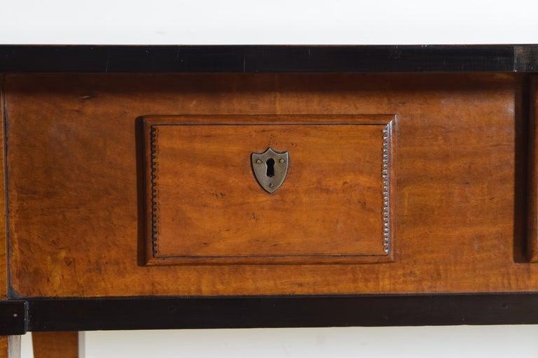 German Biedermeier Period Cherrywood and Ebonized Library Table, circa 1835 For Sale 2
