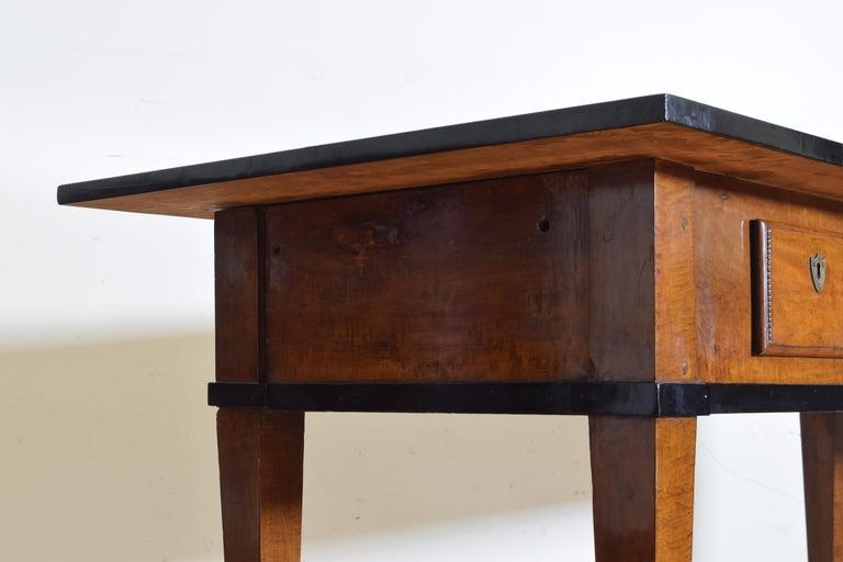 German Biedermeier Period Cherrywood and Ebonized Library Table, circa 1835 For Sale 4