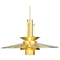 German Brass Midcentury Pendant Light
