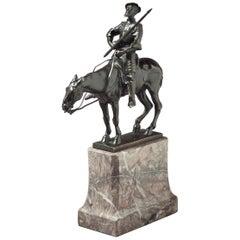 German Bronze Figure of Don Quixote, by Albert Heinrich Hussman '1874-1946'