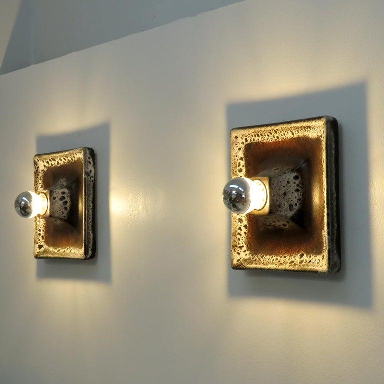 German Ceramic Wall Lights, 1960 For Sale 3