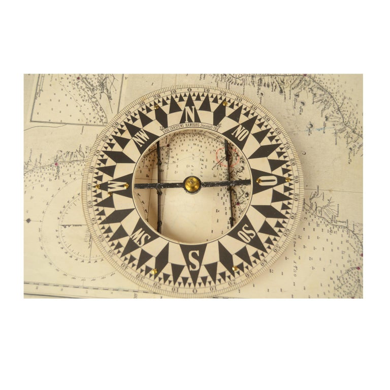 German Compass in Its Original Wooden Box with Slot Lid, 1860 For Sale 2