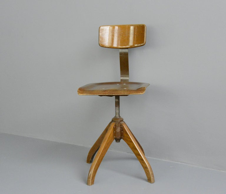 Mid-20th Century German Desk Chair by Ama Elastik, circa 1930s For Sale