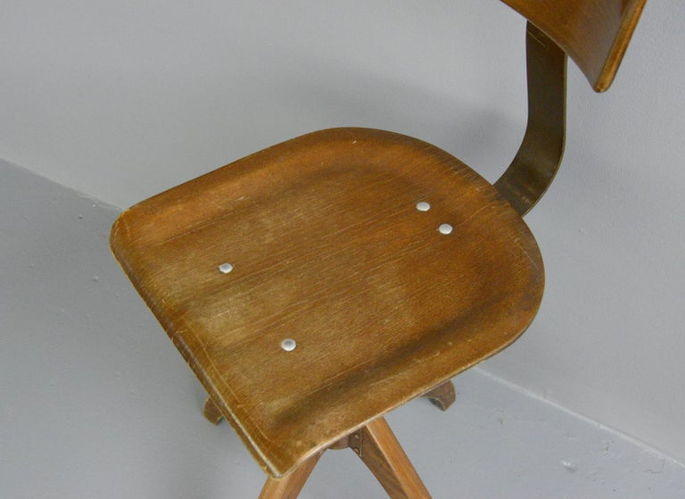 German Desk Chair by Ama Elastik, circa 1930s For Sale 1