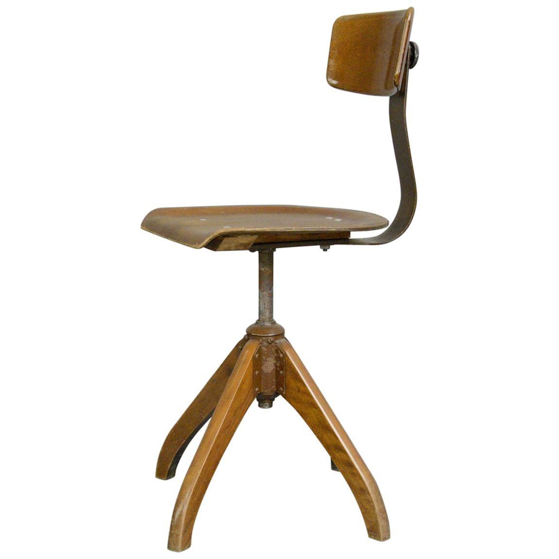 German Desk Chair by Ama Elastik, circa 1930s